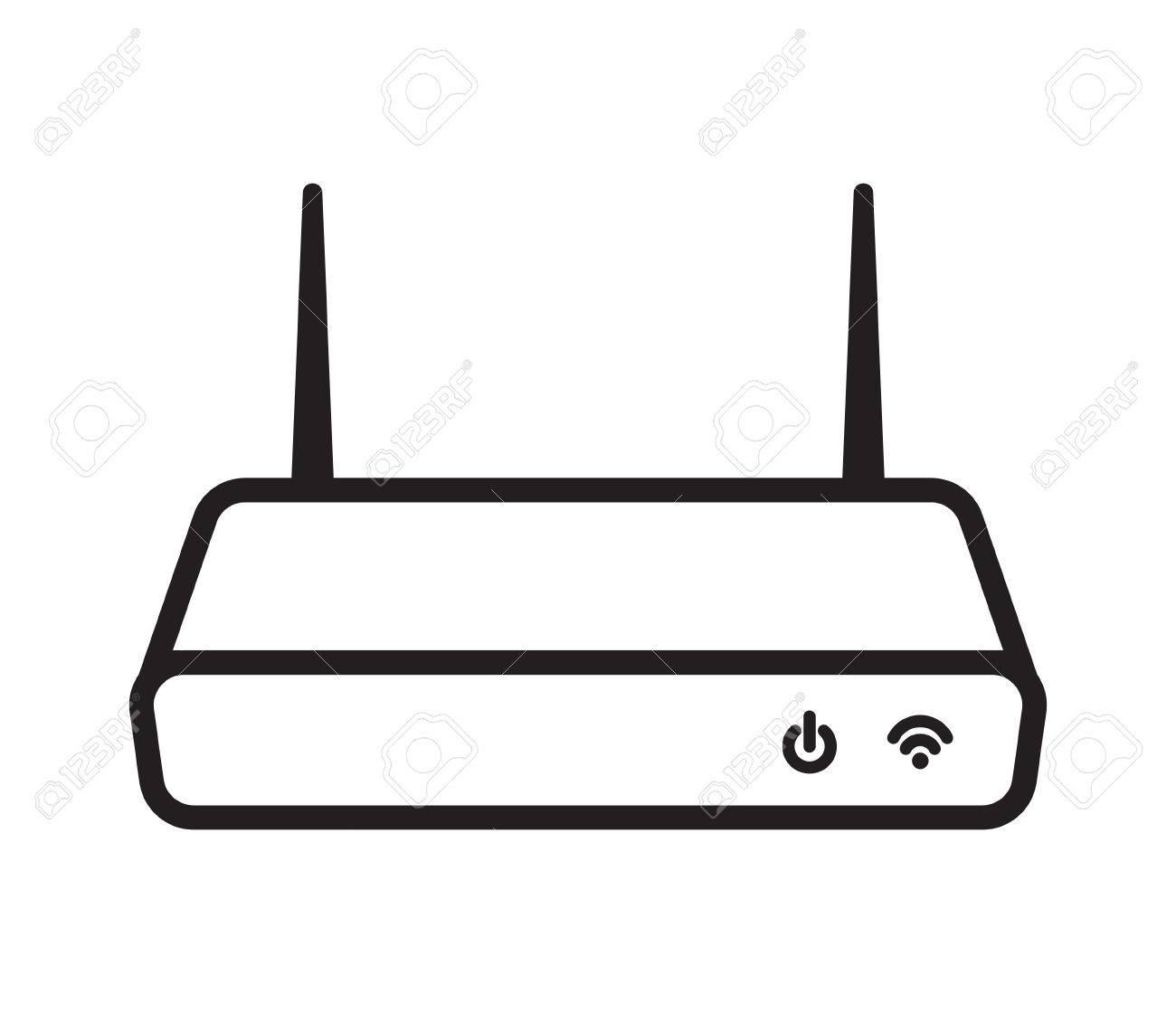 Router Módem Wifi Ilustraciones Vectoriales, Clip Art Vectorizado ...
