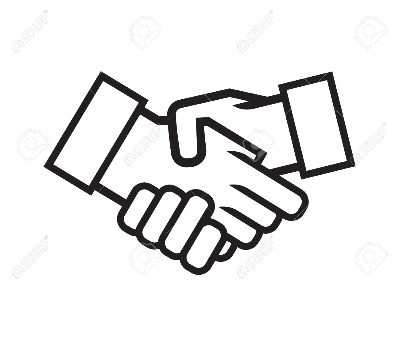 business handshake vector icon royalty free cliparts vectors and rh 123rf com handshake vector icon free handshake vector free download