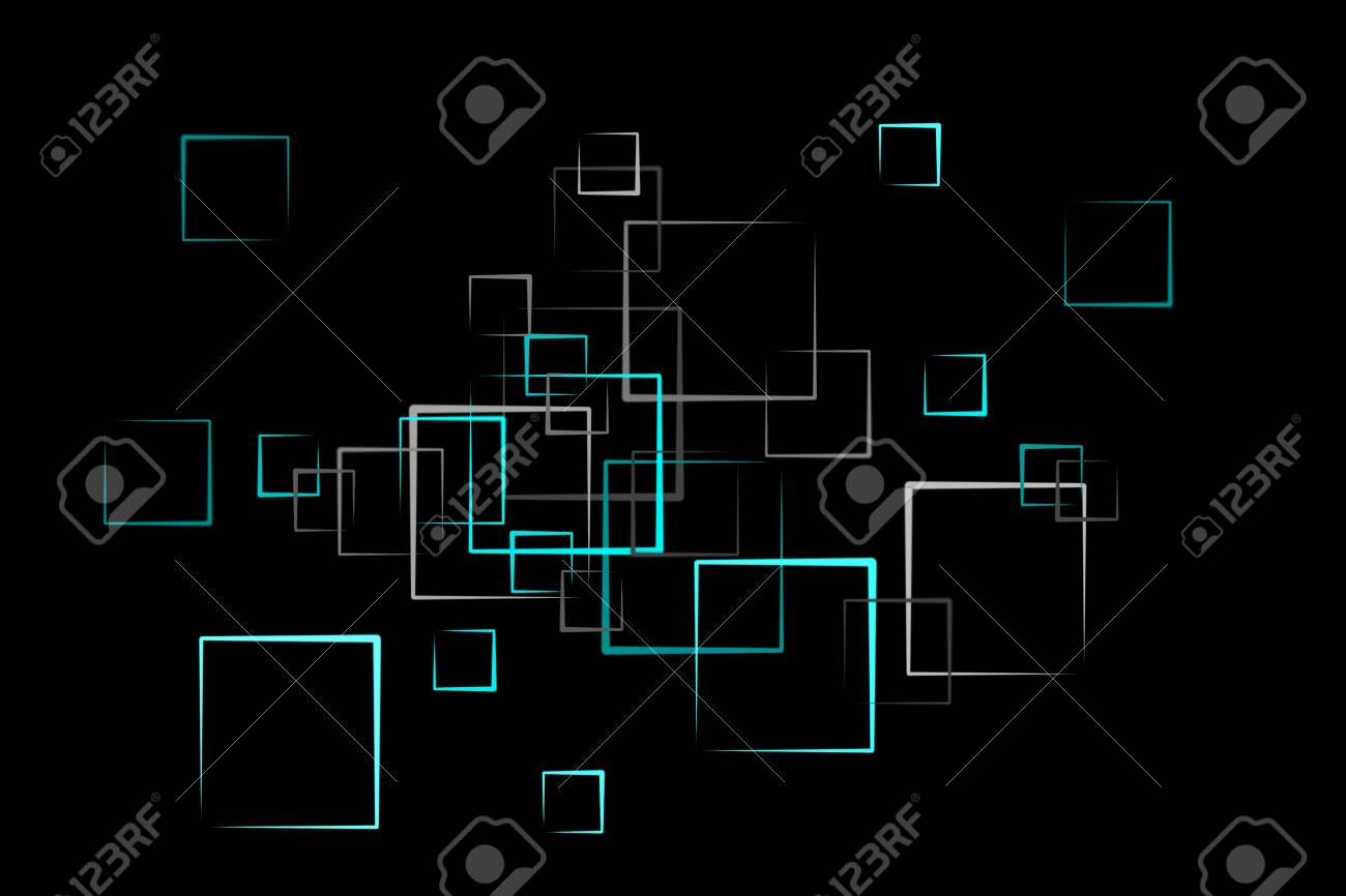 abstract quader background in blue Stock Photo - 6946565