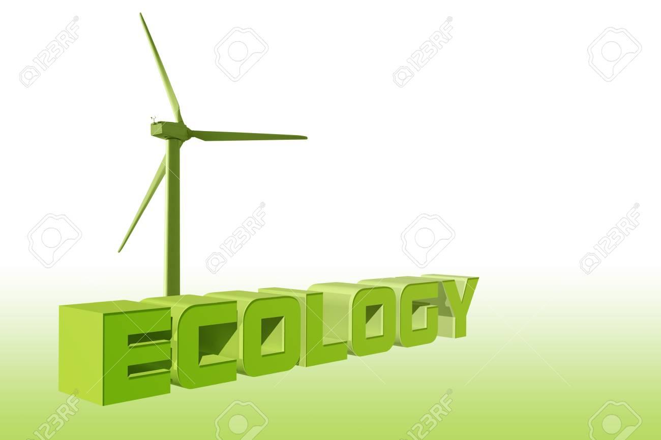 Ecology wind energy illustration Stock Photo - 16716646