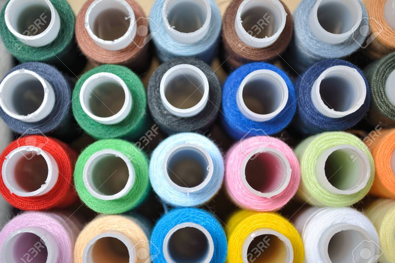 Multi-coloured threads for embroidery Stock Photo - 9099047