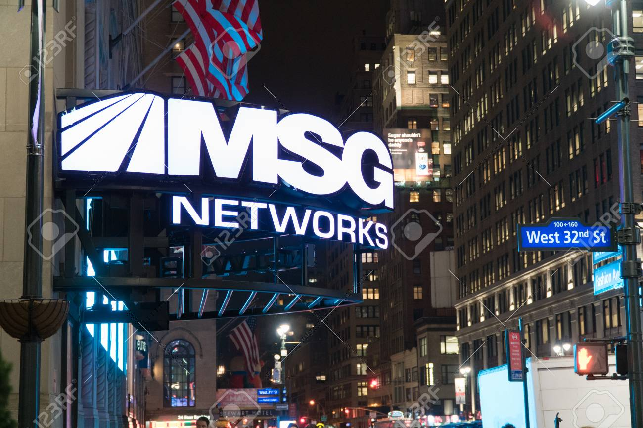 New York City Circa 2017 Madison Square Garden Msg Television