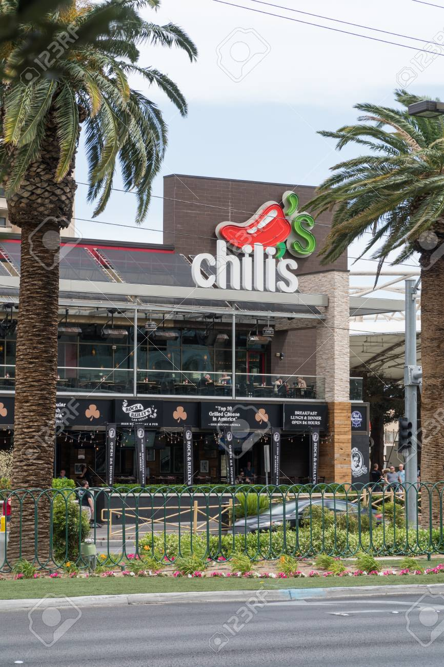 Las Vegas Nevada Circa 2017 Chilis Restaurant Exterior On