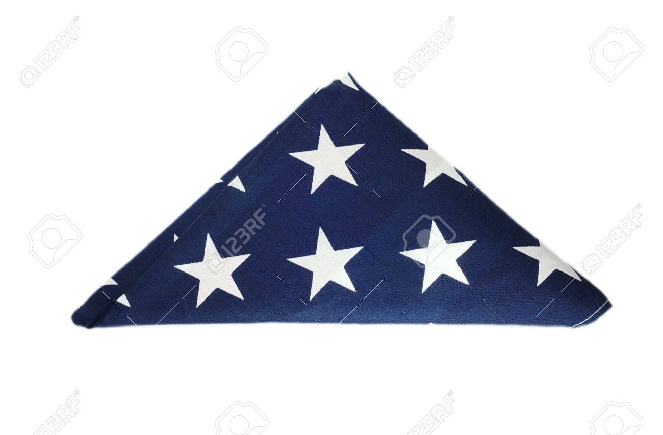 Folded American flag Stock Photo - 7268040
