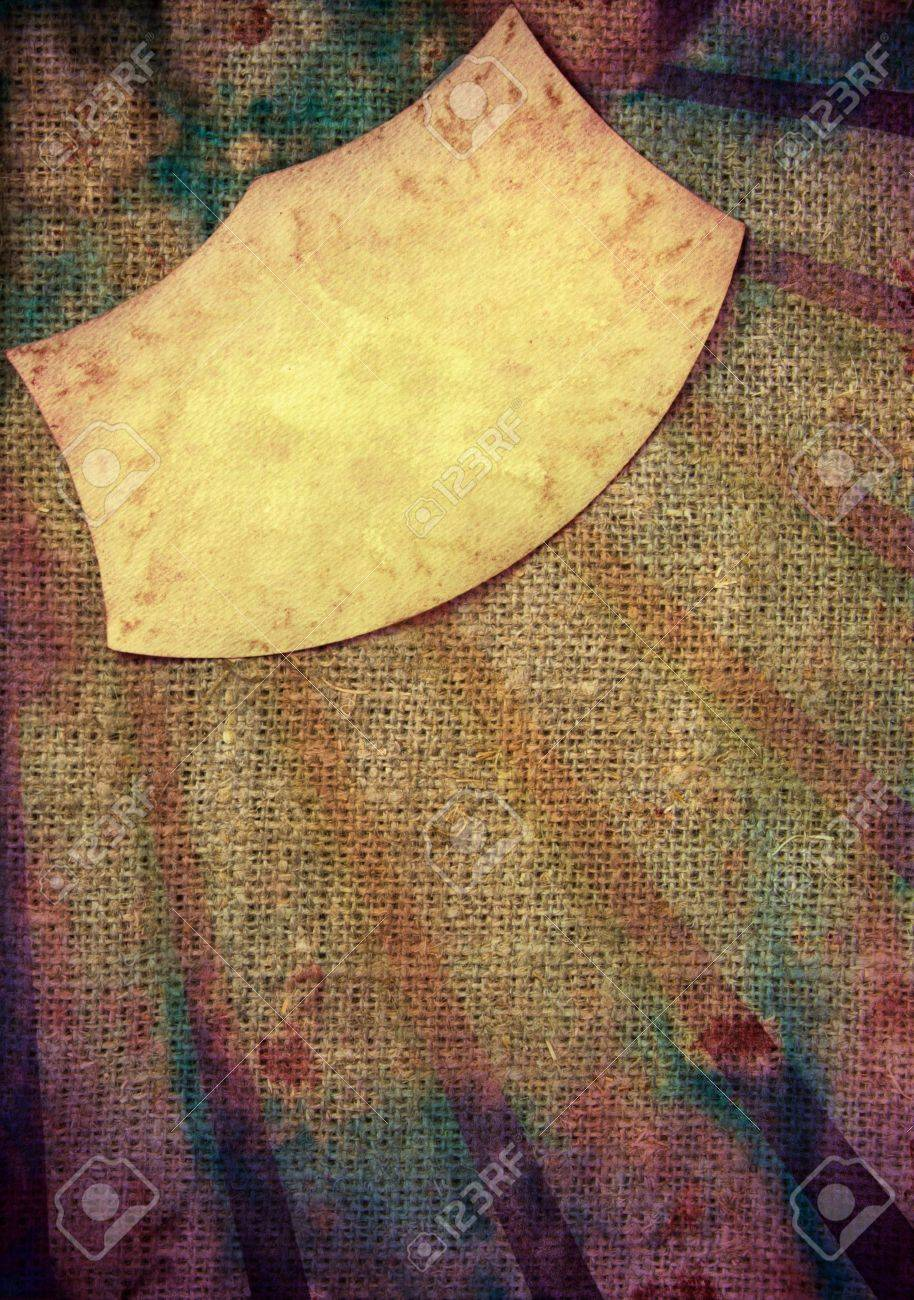 Paper frame on canvas sunburst grunge background Stock Photo - 13010384