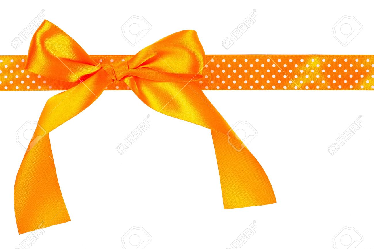 Orange gift bow and ribbon on white background stock photo orange gift bow and ribbon on white background stock photo 18724757 negle Image collections