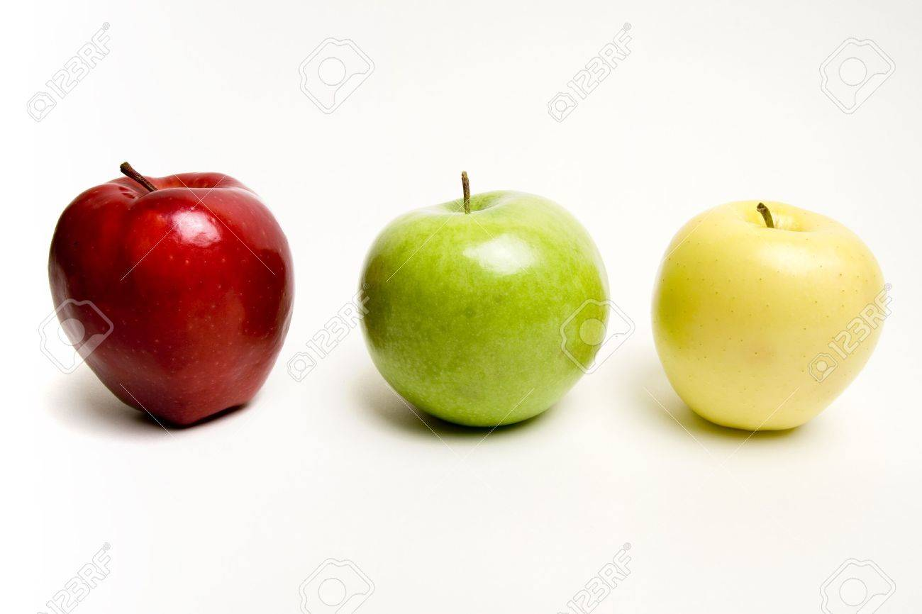 red yellow green apple. red green and yellow apples in a row stock photo - 283040 apple p
