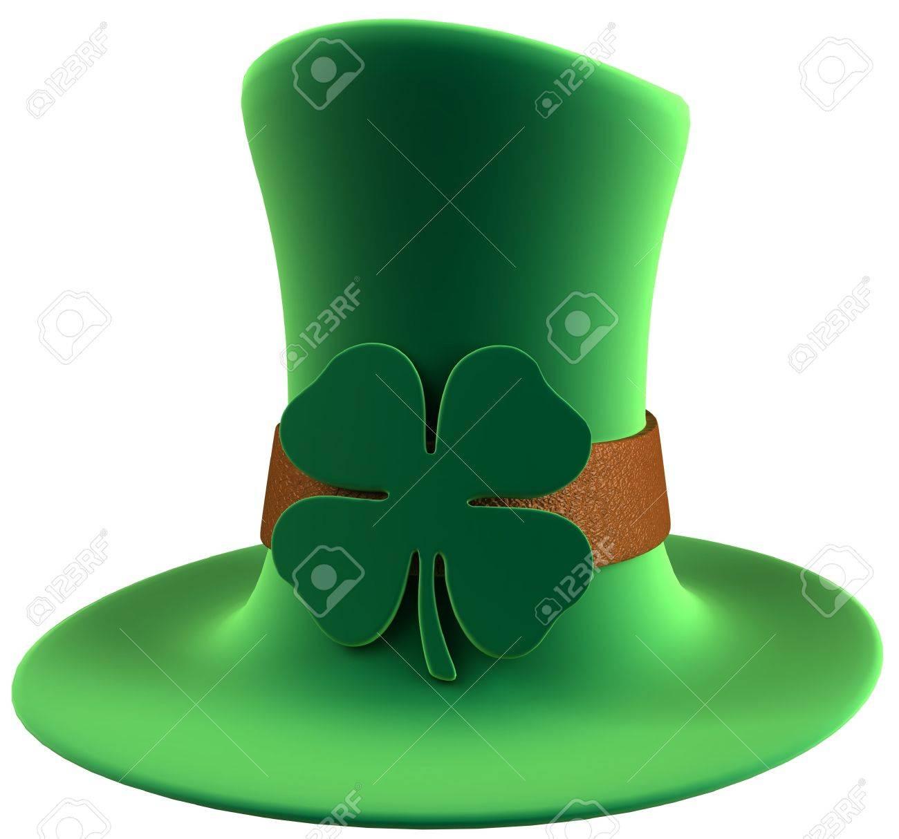 st patrick u0027s day leprechaun u0027s green velvet hat with four leaf