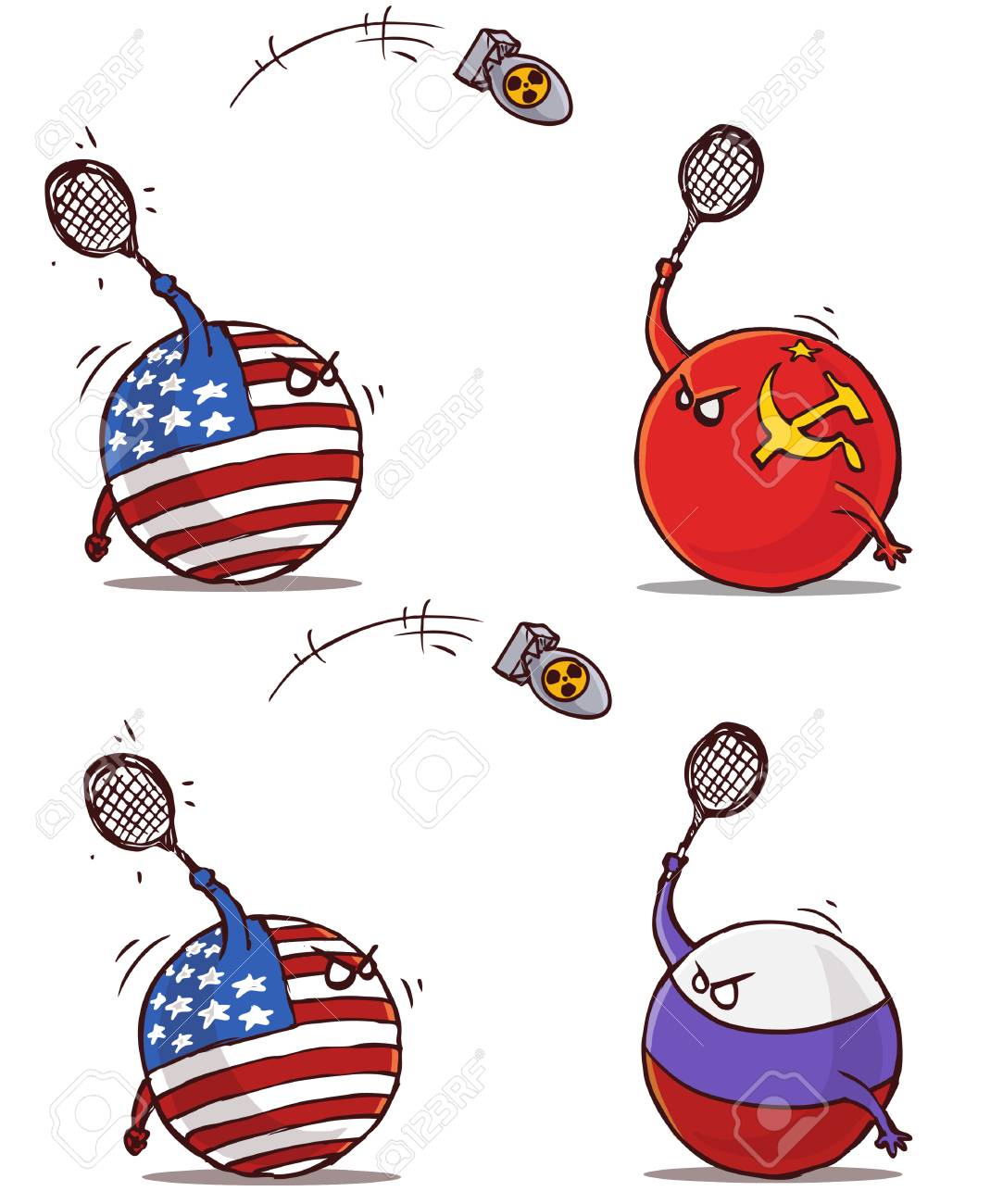 nuclear badminton ussr russia versus usa - 106880159