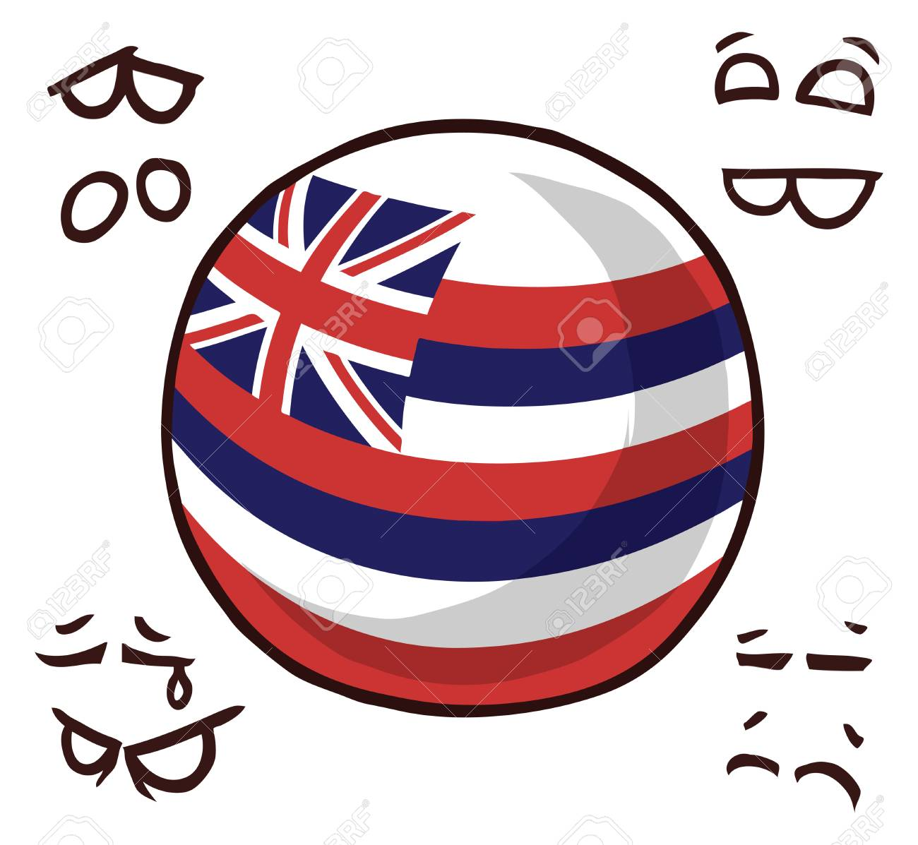 Hawaii island ball - 110447509