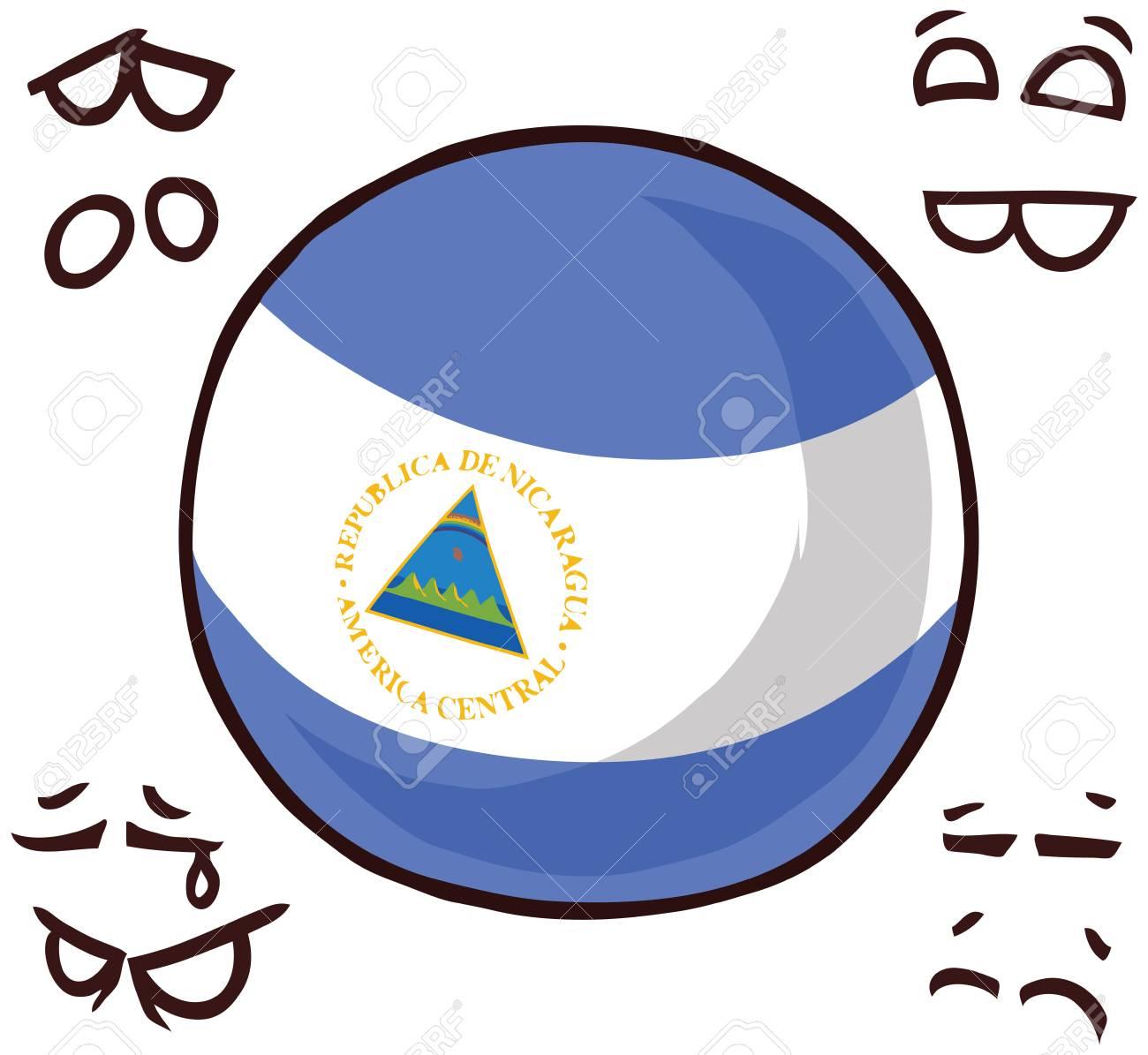 Nicaragua country ball - 110723172
