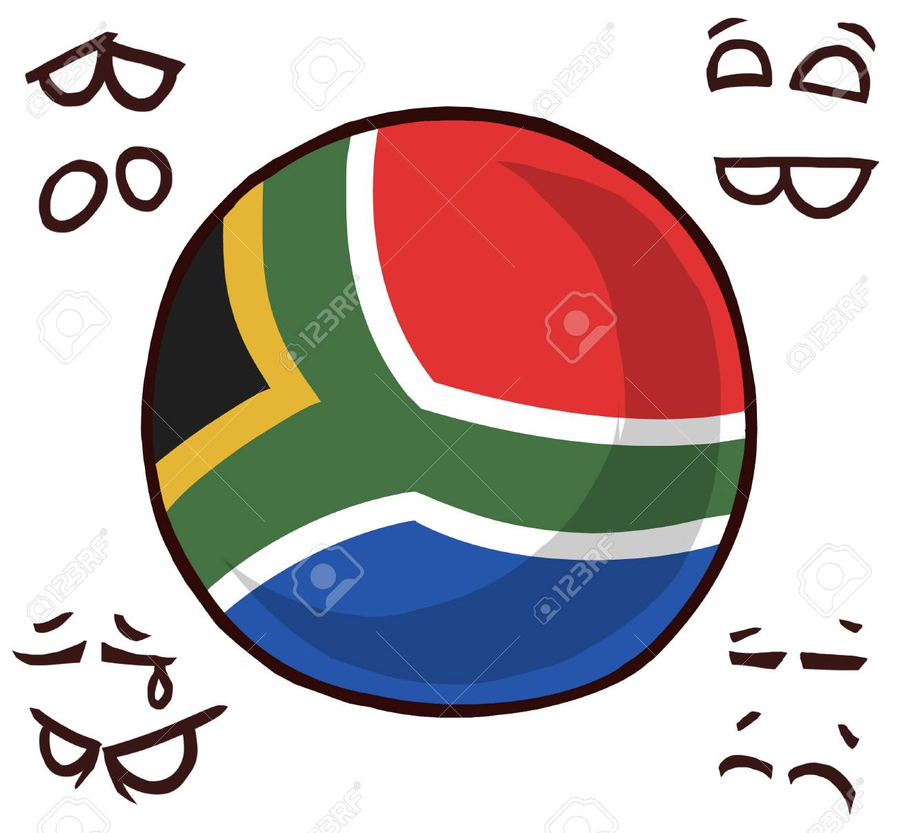 South Africa country ball - 110841534