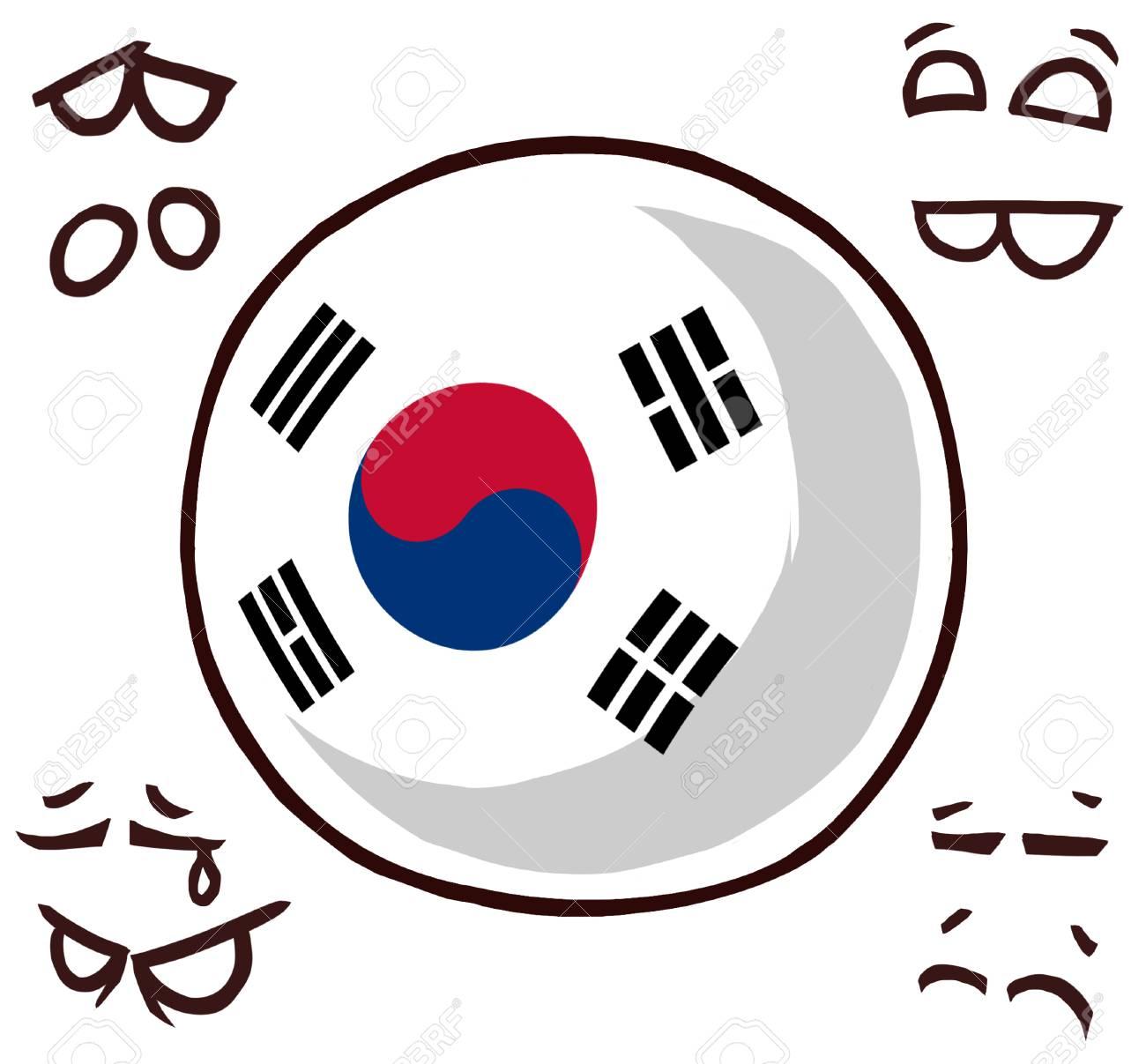 south korea country ball - 110841535