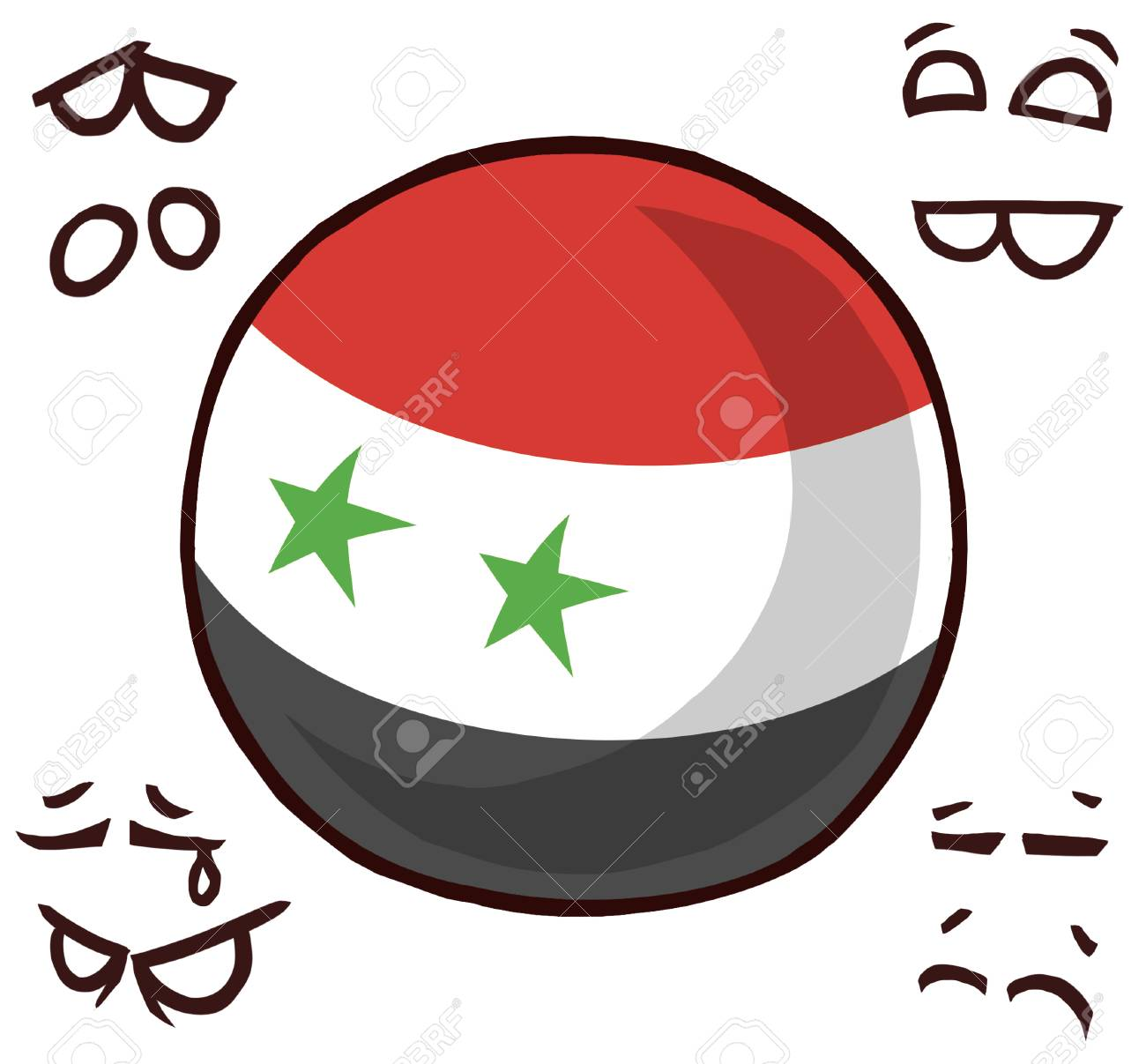 Syria country ball - 110847820