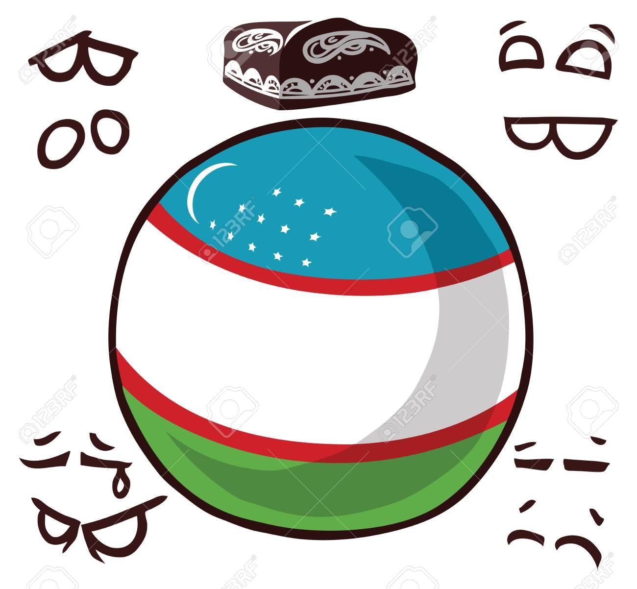 country ball uzbekistan - 114846428