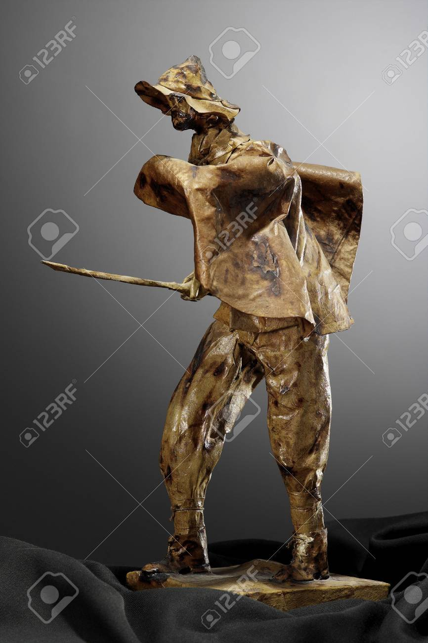 papier m�ch� sculpture shepherd Stock Photo - 3391459