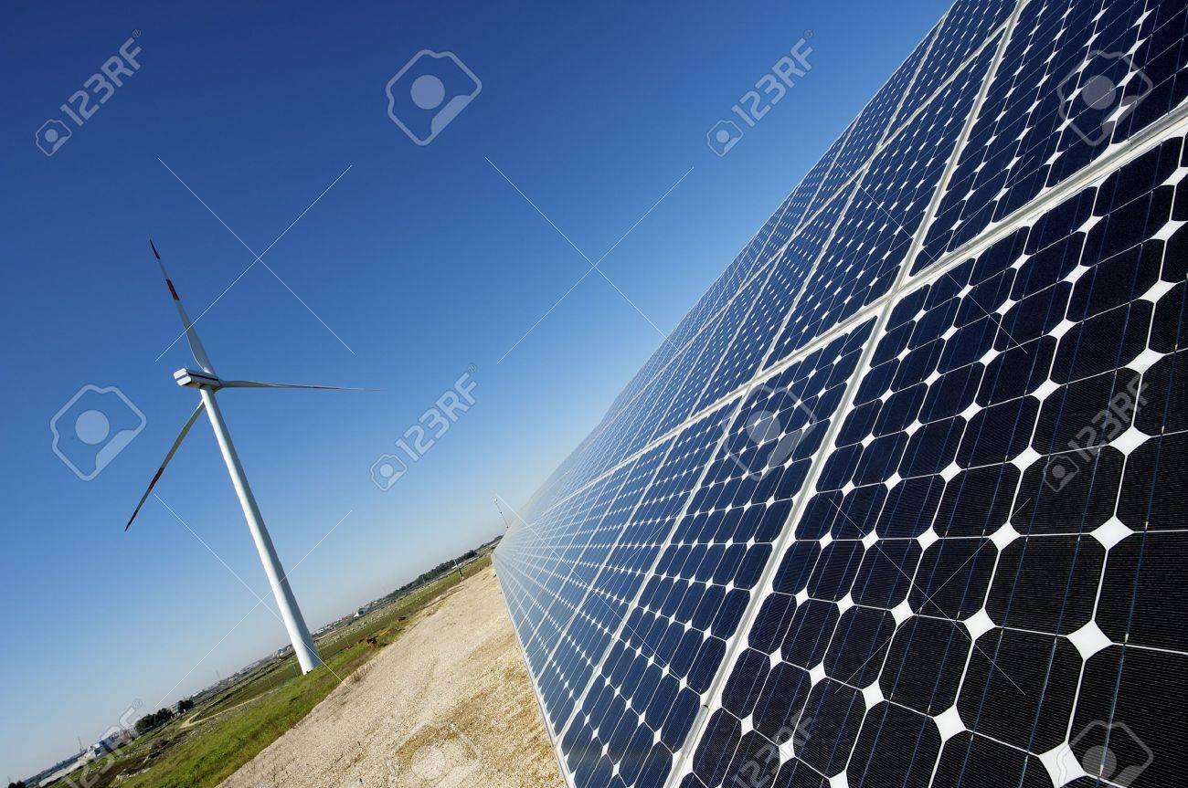 solar and wind energy Stock Photo - 6401414