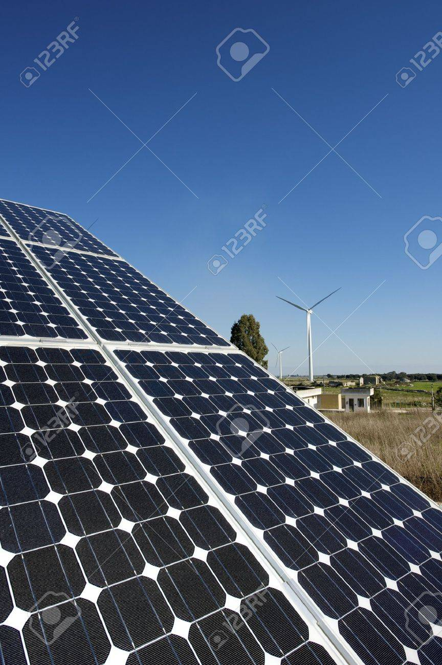 solar and wind energy Stock Photo - 6401469