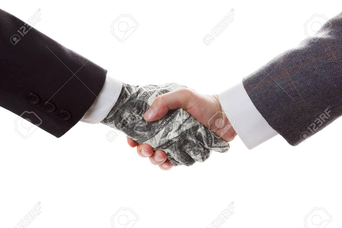 Business-Konzept - Fazit Schnäppchen Und Vertrag. Der Vertrag Mit ...