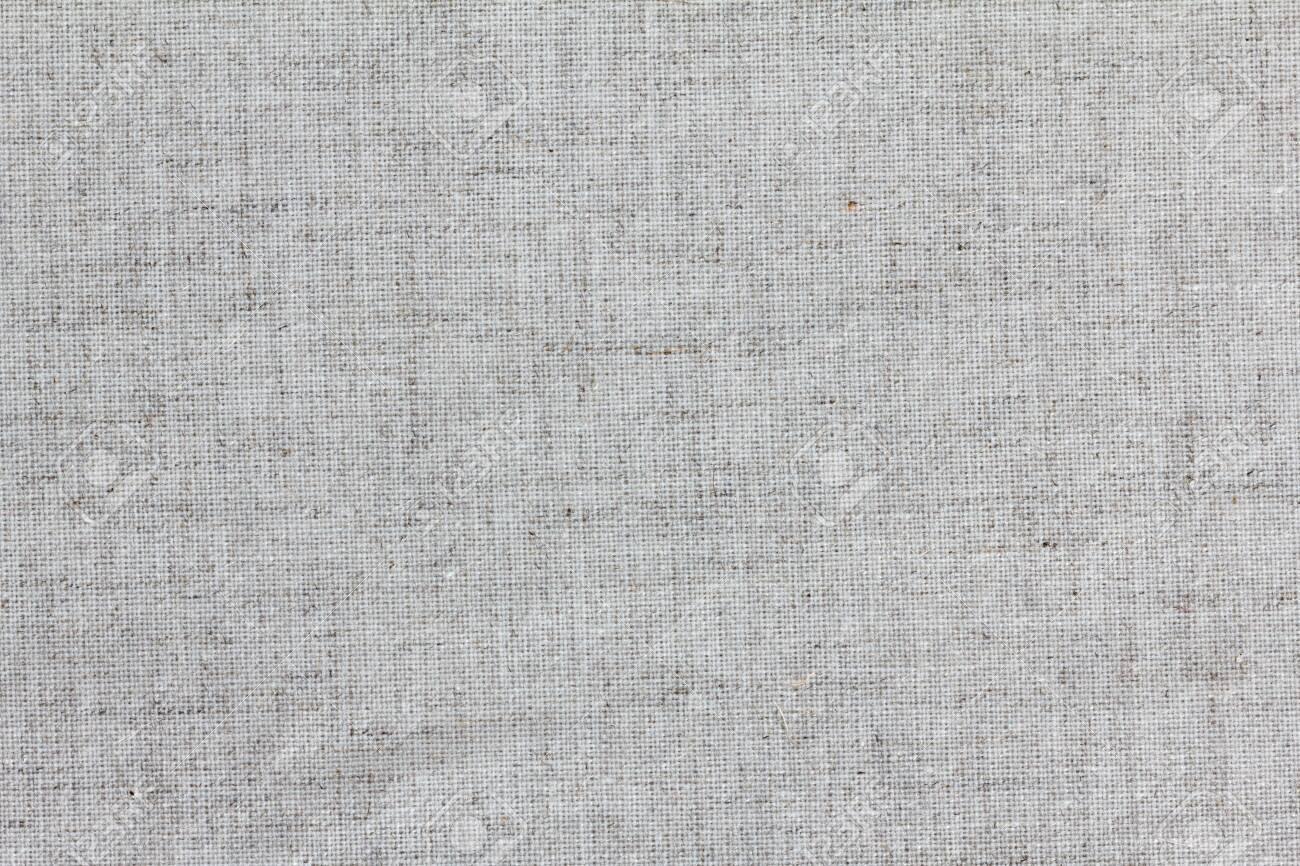 Rough linen texture close up, isolated background - 121721209