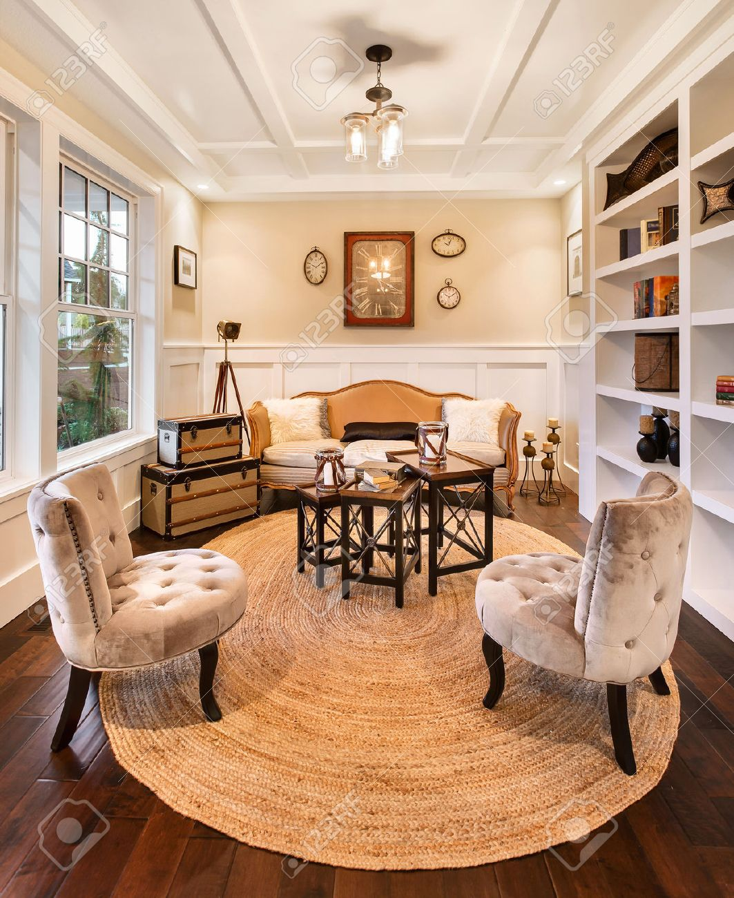 den and reading room in luxury home stock photo picture and royalty rh 123rf com