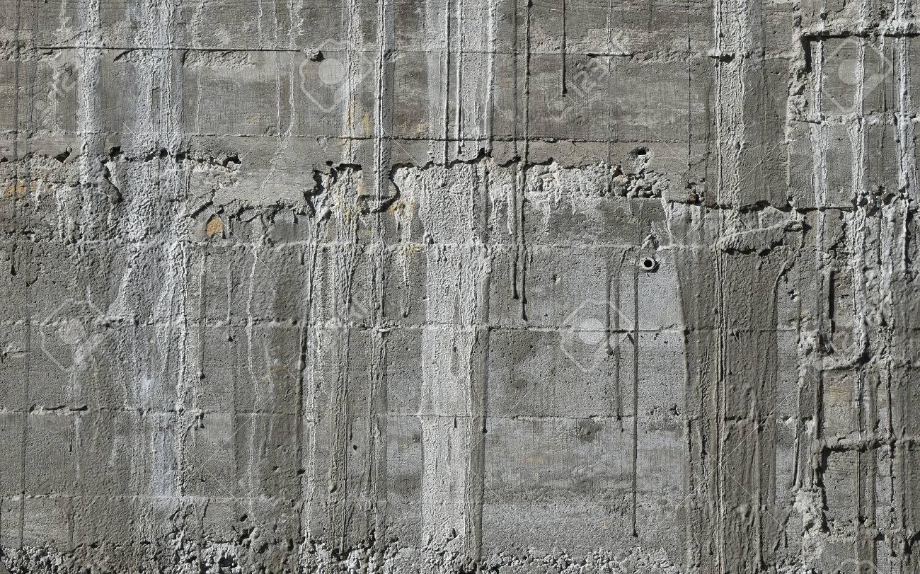 Muro De Hormigón Con El Patrón De Madera Impresionar A Partir De ...