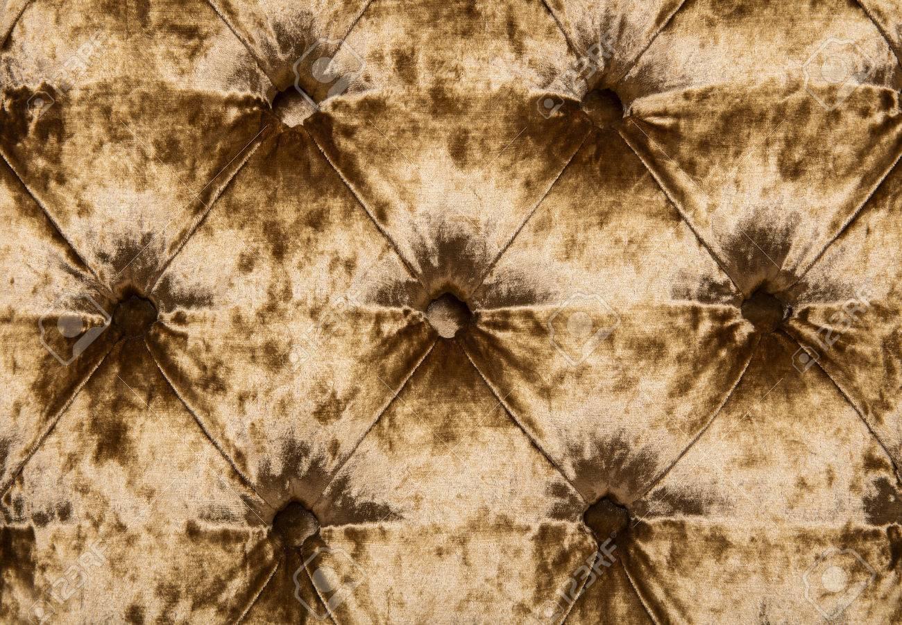 Oro Fondo De Terciopelo Capitoné Textil, Retro A Cuadros Estilo ...
