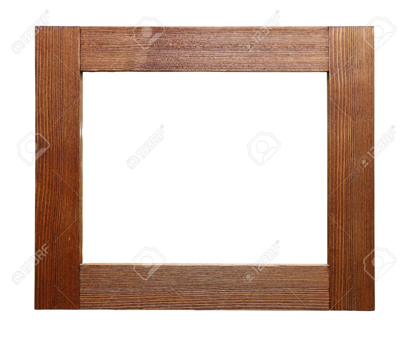 Rústico Rectángulo De Madera Sin Pintar La Imagen, Ventana O Espejo ...
