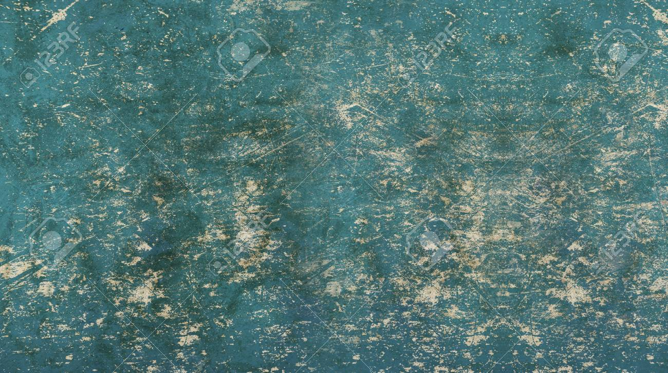Grunge Old Vintage Dirty Shabby Distressed Blue Texture Background With Uneven Noise Stock Photo