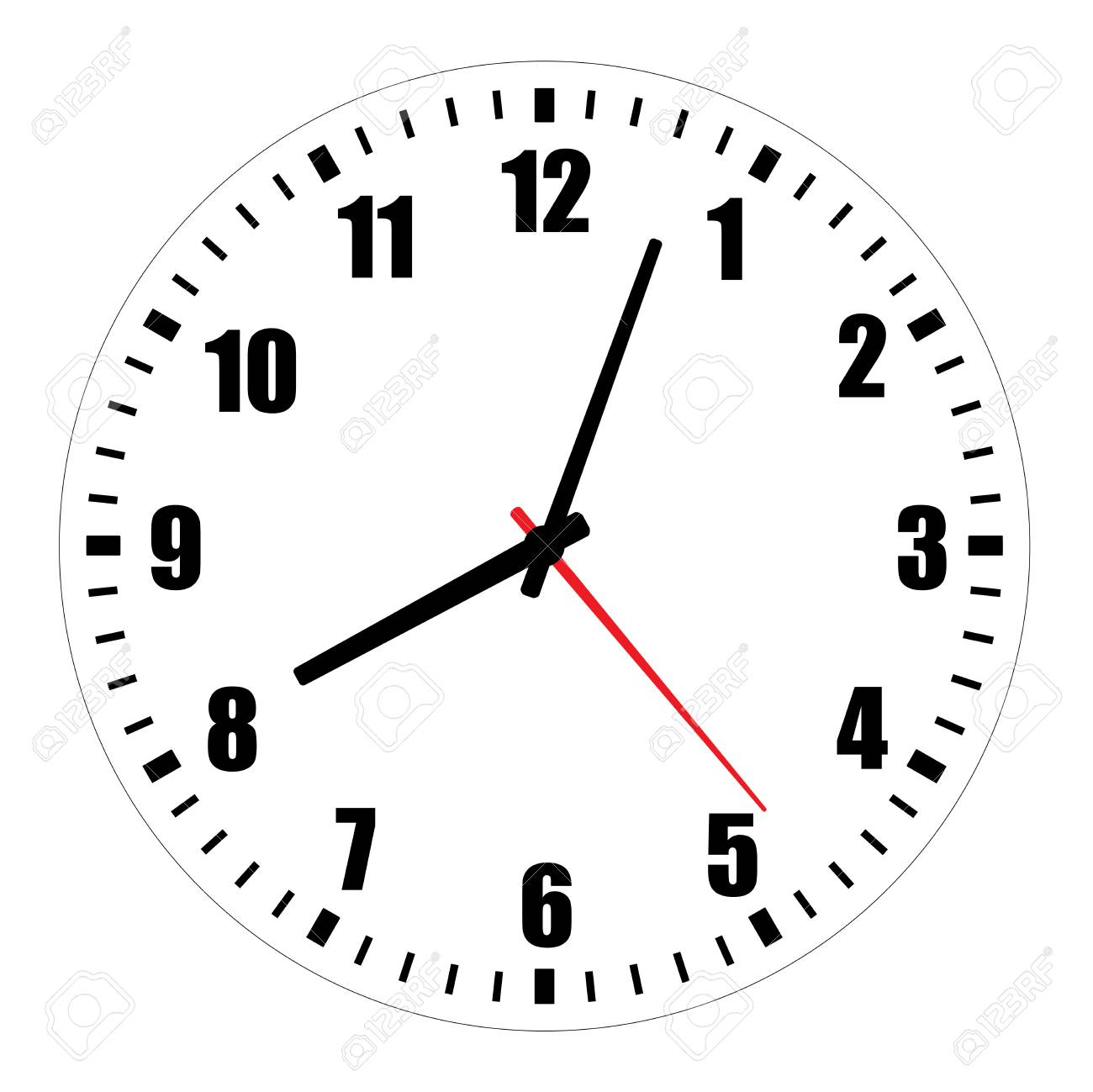 photograph relating to Printable Clock Face With Hands called Vector instance of blank clock experience dial with Arabic numerals,..
