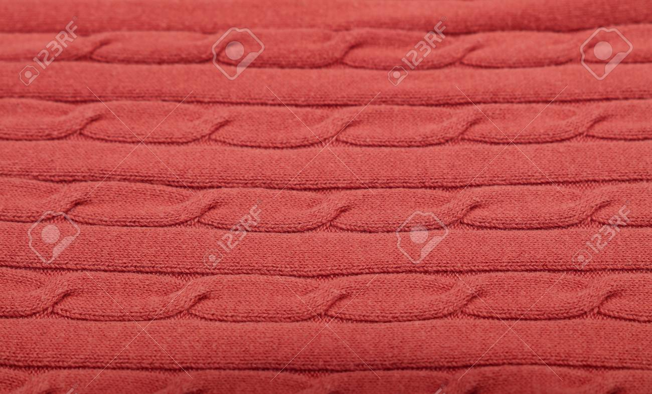 d3e2f844f0e Close up background of pink red knitted wool jersey fabric texture Stock  Photo - 115548817