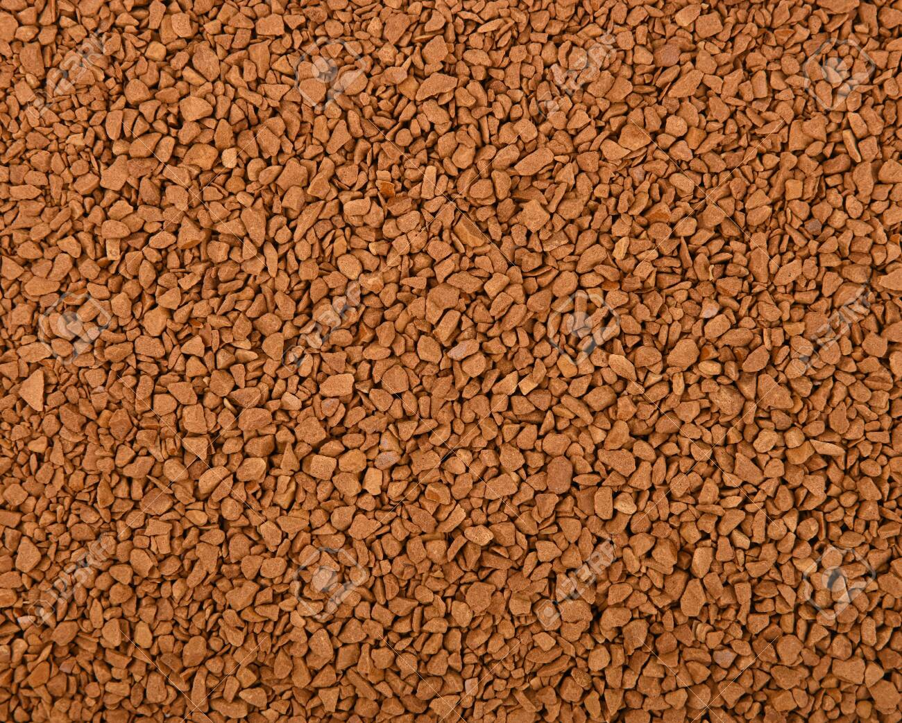 Close up background texture of freeze dried instant coffee granules - 131470714