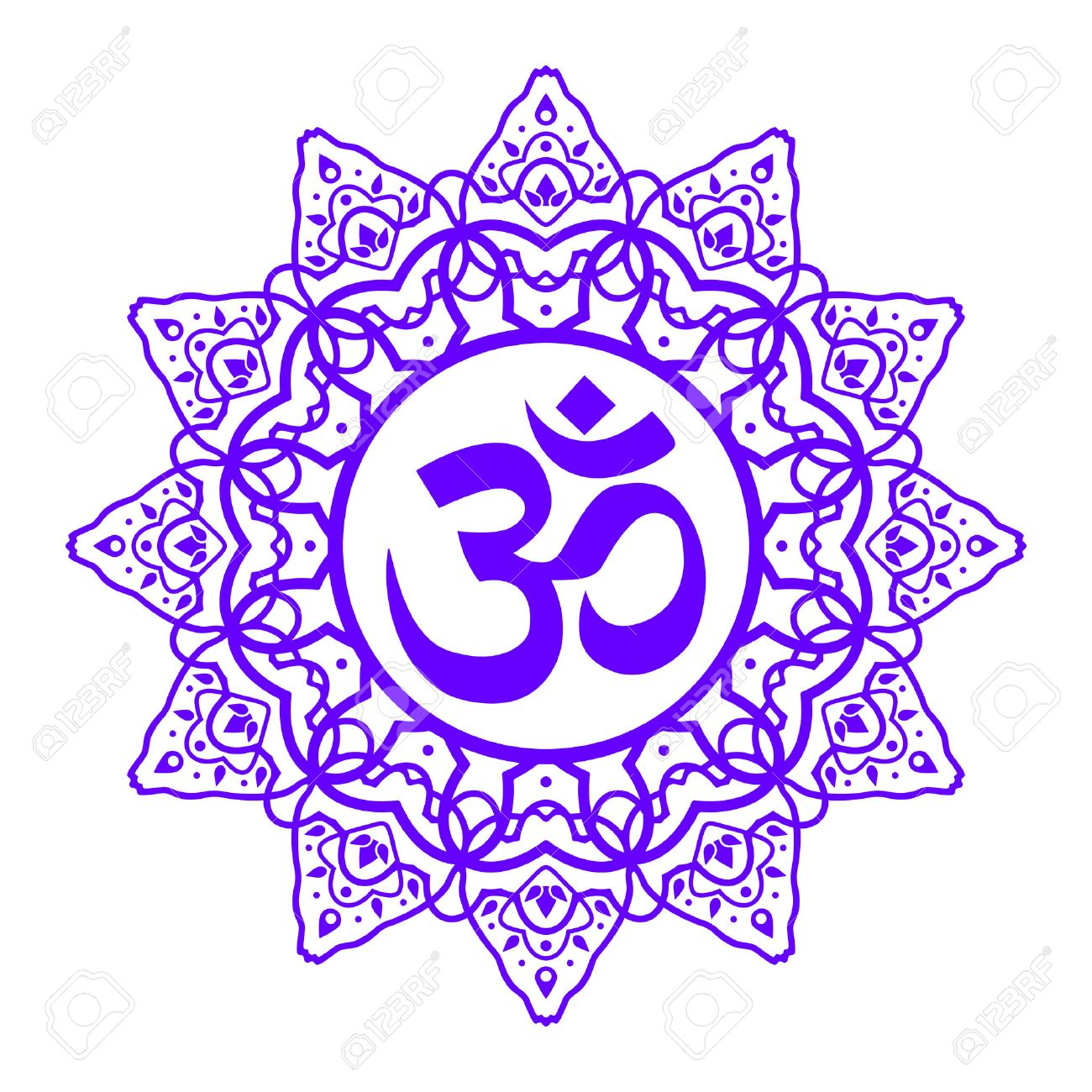 Om symbol aum sign with decorative indian ornament mandala om symbol aum sign with decorative indian ornament mandala isolated on white background buycottarizona Image collections