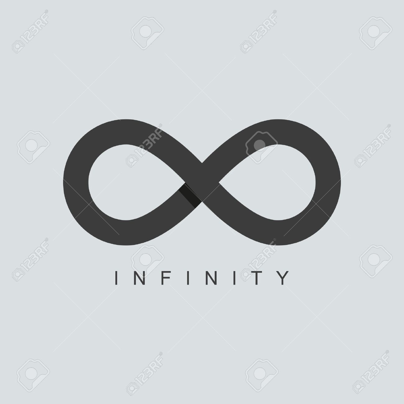 Infinity stock photos royalty free business images infinity symbol or sign icon template isolated on grey background overlapping technique vector biocorpaavc Choice Image