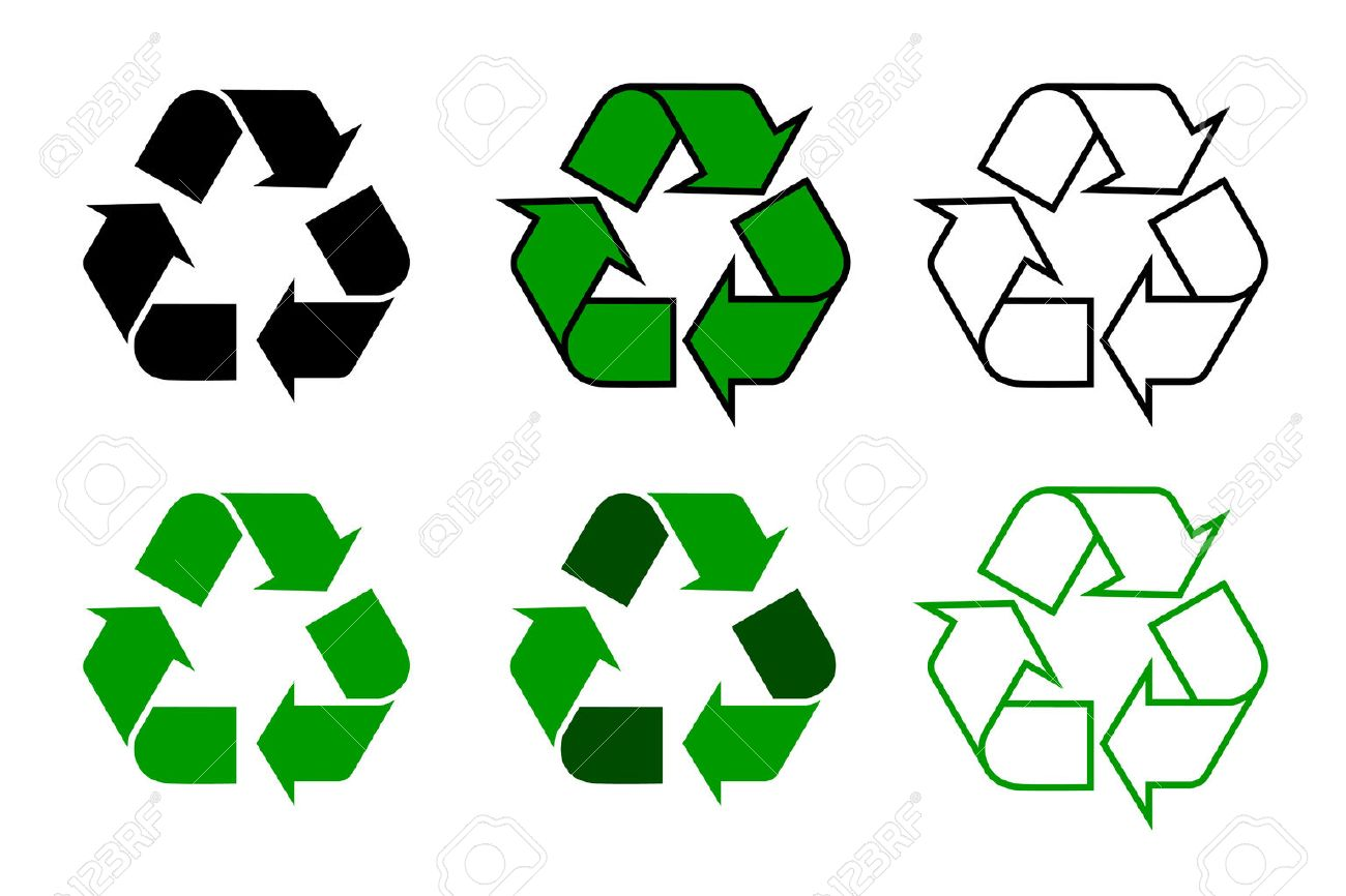 Recycle Symbol Or Sign Set Isolated On White Background This