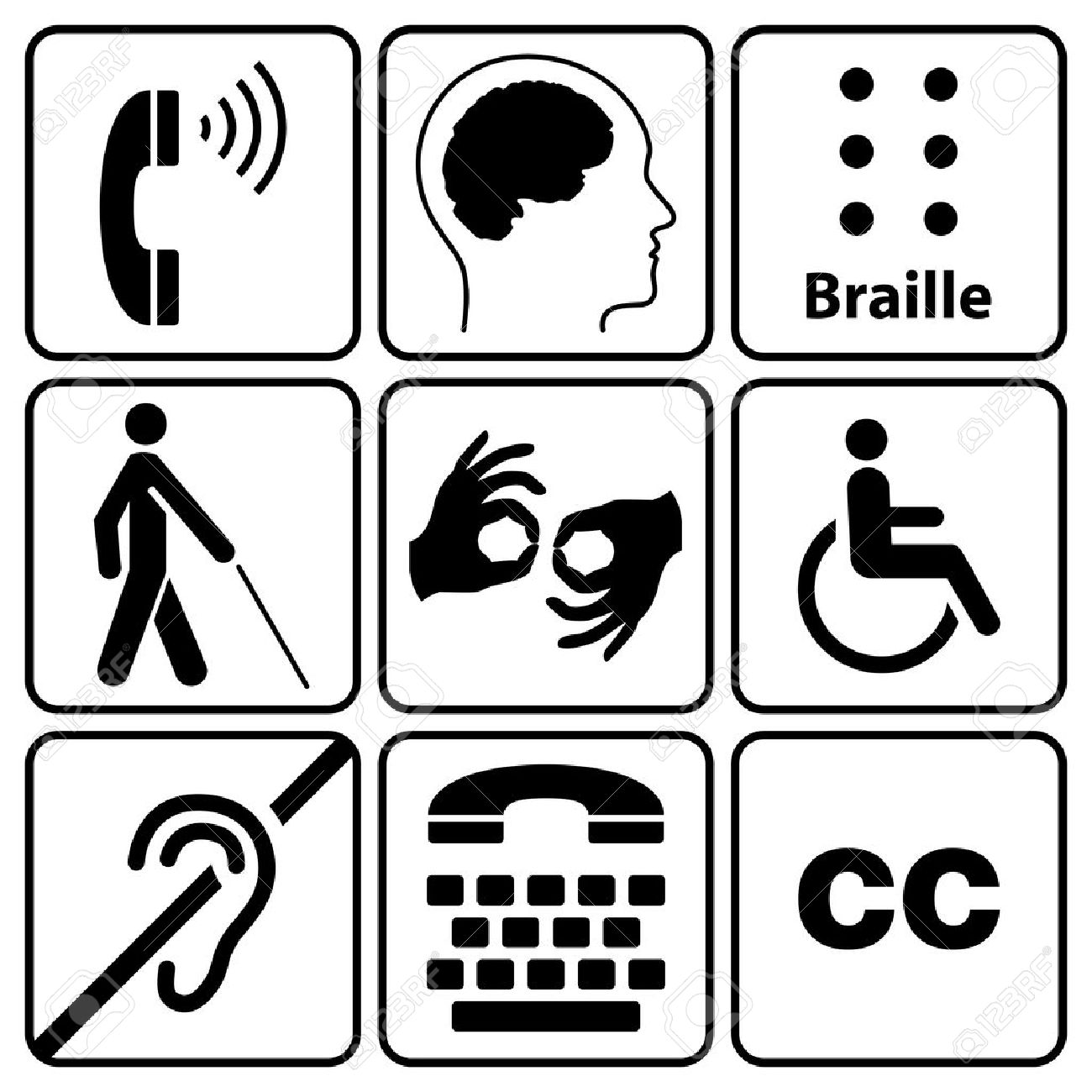 Black disability symbols and signs collection may be used to black disability symbols and signs collection may be used to publicize accessibility of places biocorpaavc