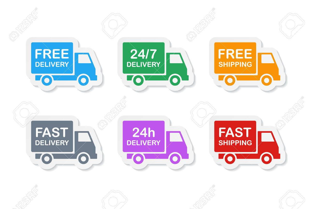 Colorful delivery stickers free delivery and fast delivery free shipping and fast shipping