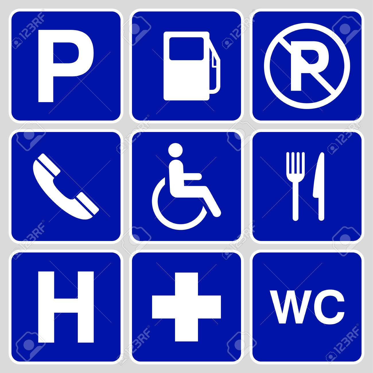 Blue parking symbols and signs collection may be used to blue parking symbols and signs collection may be used to publicize of parking areas buycottarizona