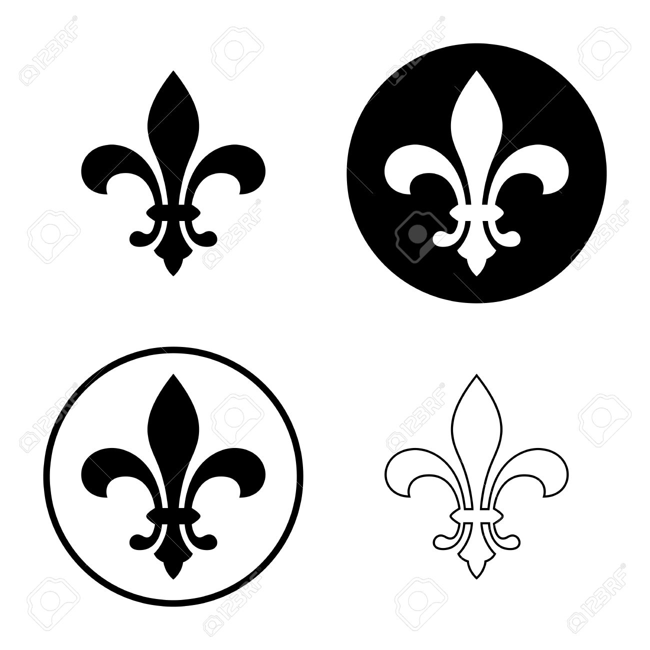 798 royal french lily symbols stock illustrations cliparts and fleur de lis or lily flower icon set royal french heraldic symbol isolated on buycottarizona Images
