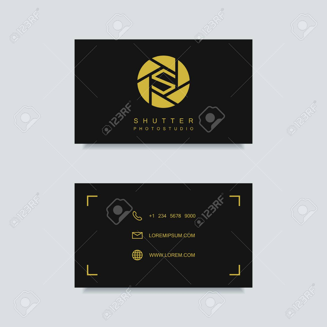 Photography Business Card Template Photography Emblem Photo - Photography business card template