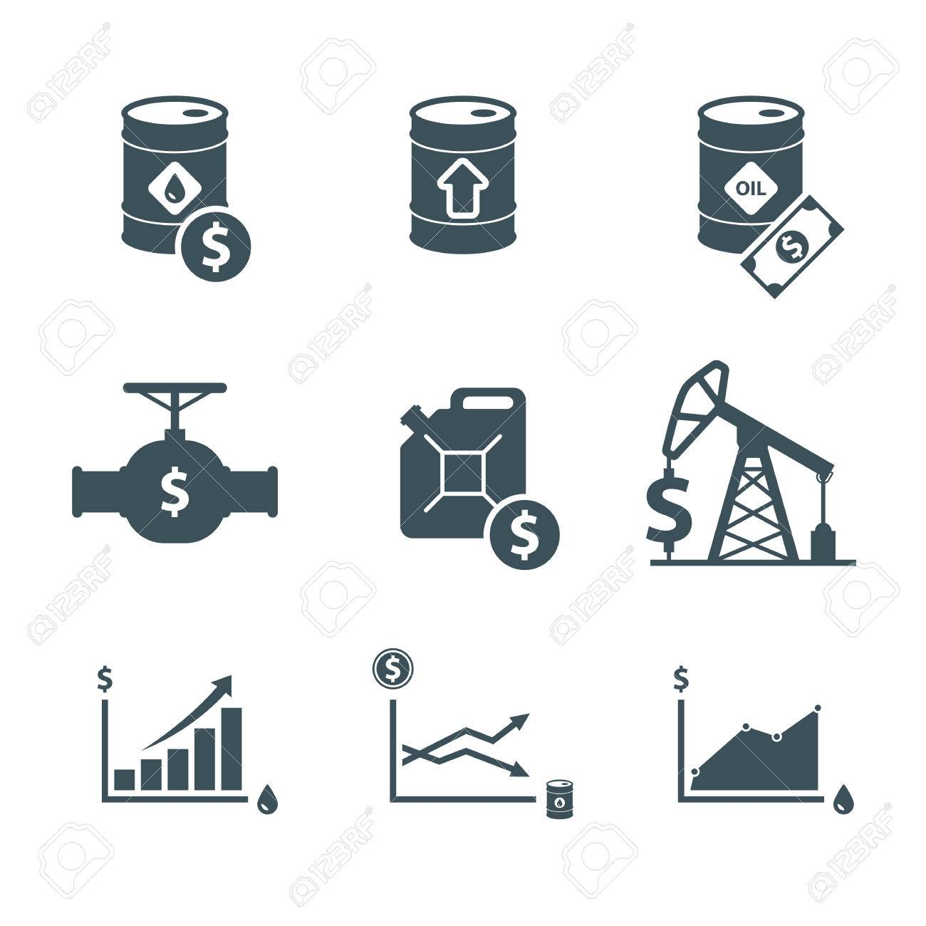 Oil price icon set oil prices up crude oil barrel cost rise oil price icon set oil prices up crude oil barrel cost rise in biocorpaavc Gallery