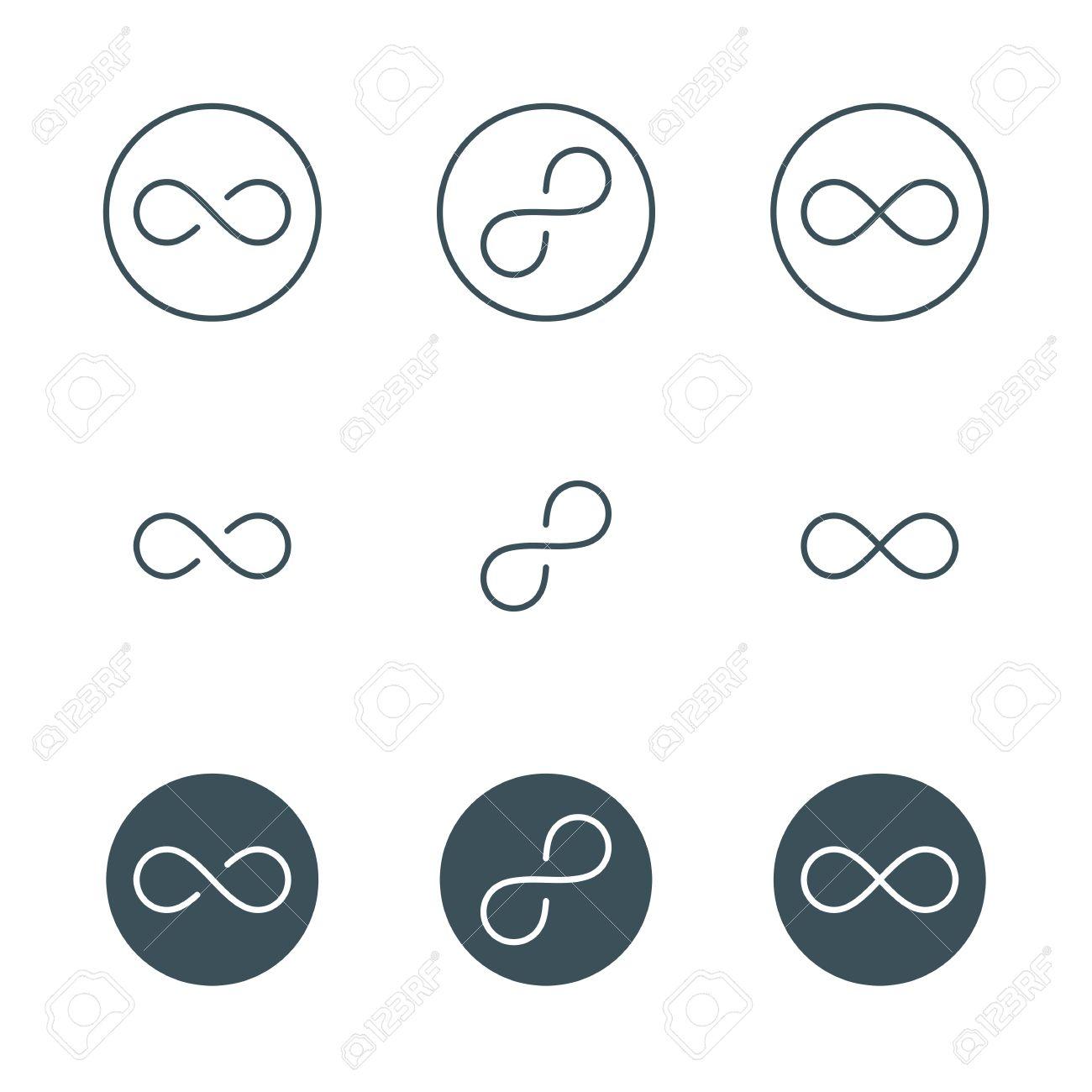 Thin line infinity symbol or sign infinity emblem concept in thin line infinity symbol or sign infinity emblem concept in modern flat outline style buycottarizona