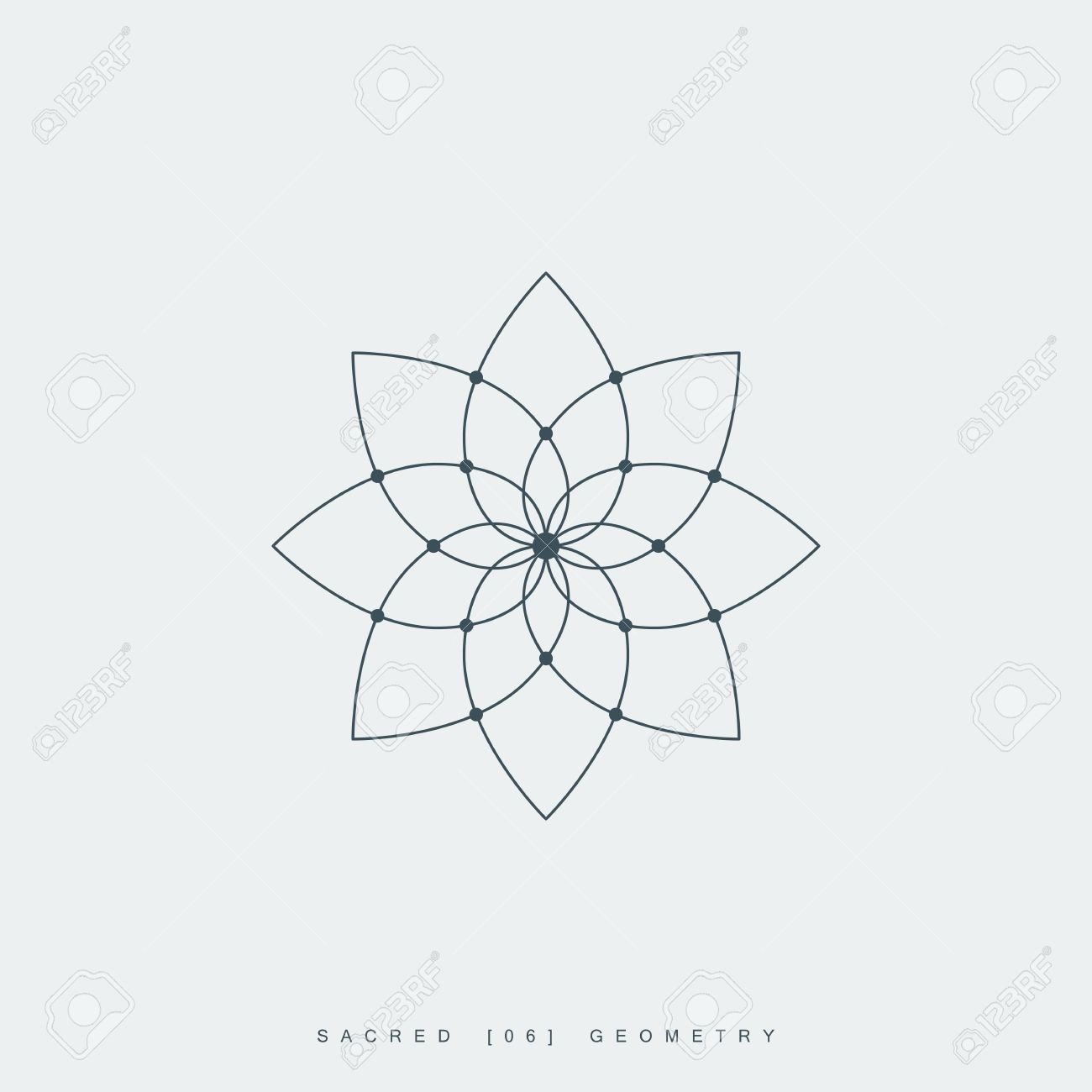 Lotus Line Drawing Geometry Wiring Diagrams Mtd 214406000 Parts List And Diagram 1994 Ereplacementparts Flower Of Life Sacred Mandala Ornament Rh 123rf Com Japanese