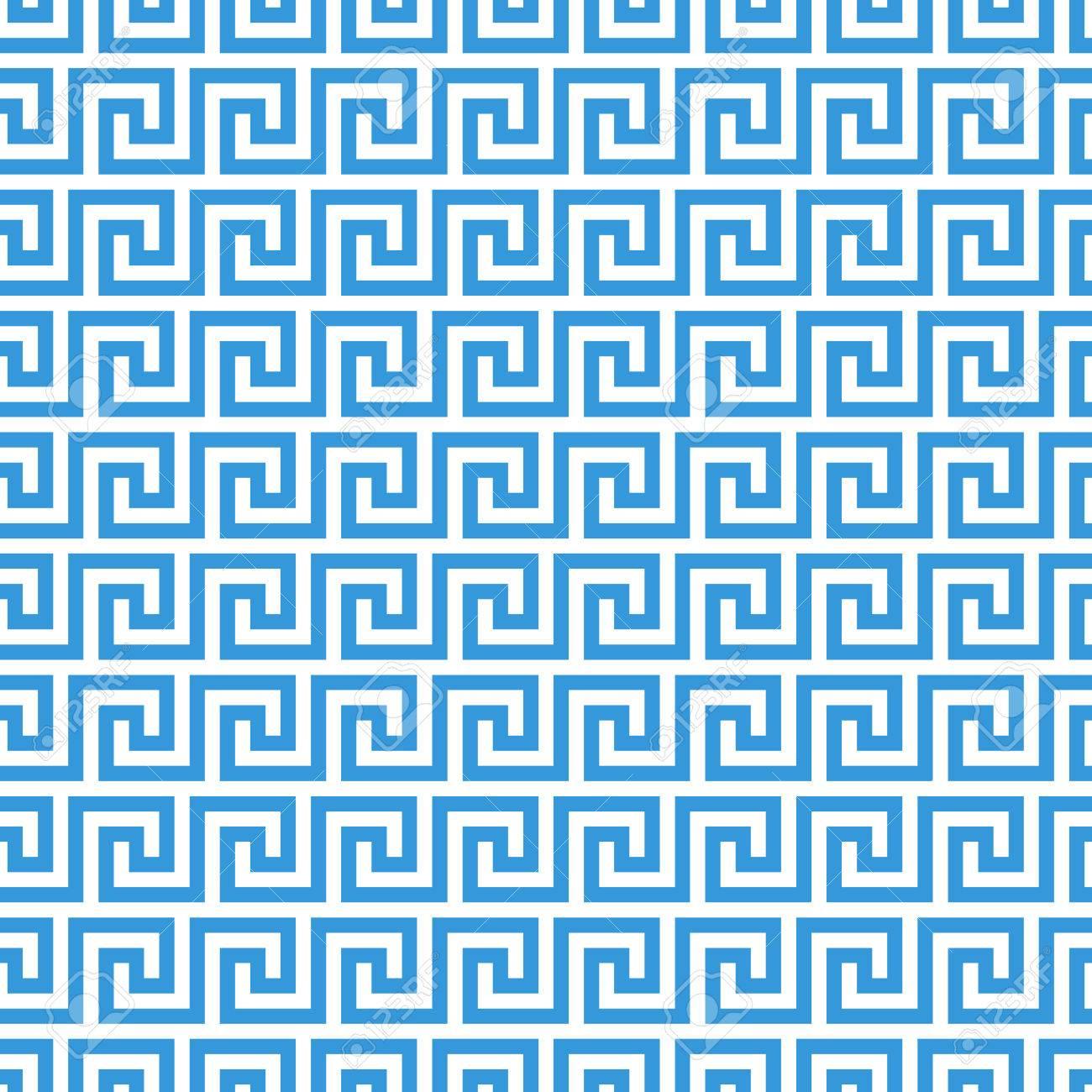 Griechische Welle Ornament Muster Kostenlose Vektor