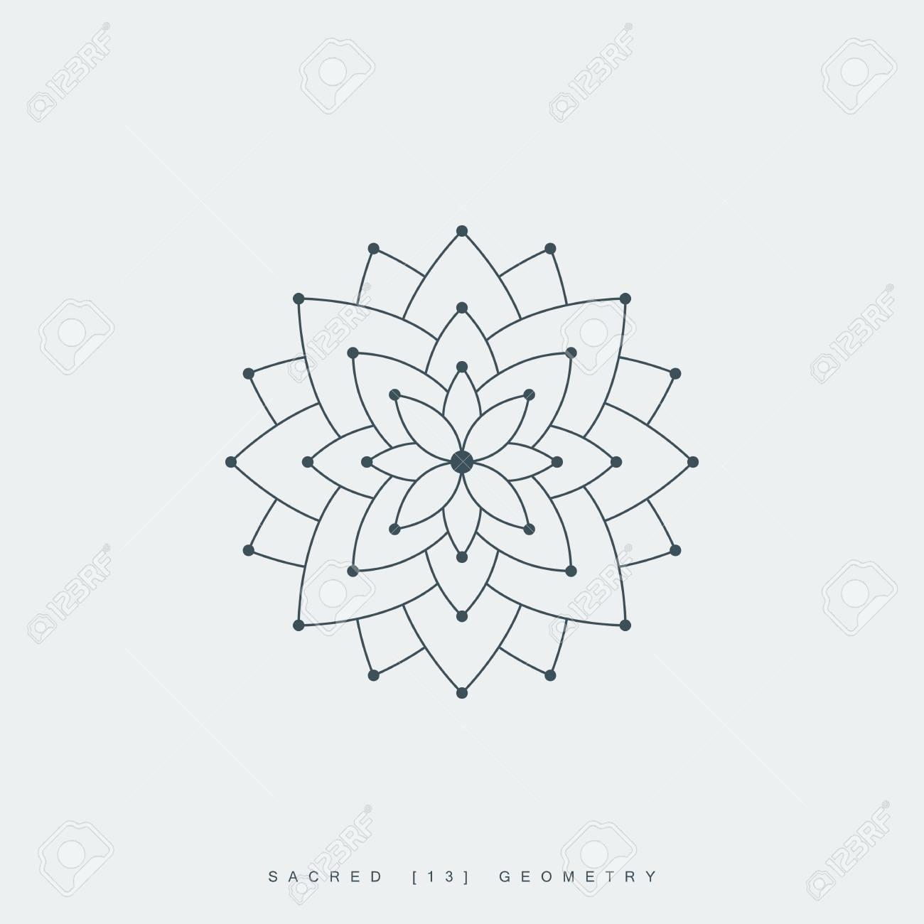 Line lotus flower or flower of life sacred geometry mandala line lotus flower or flower of life sacred geometry mandala ornament esoteric or izmirmasajfo