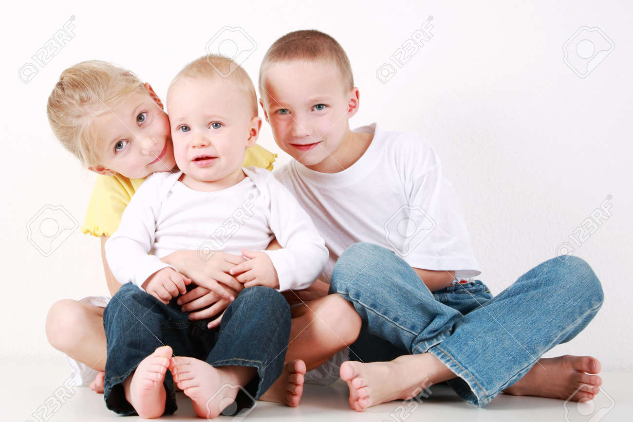 Adorable siblings have a fun Stock Photo - 6457775