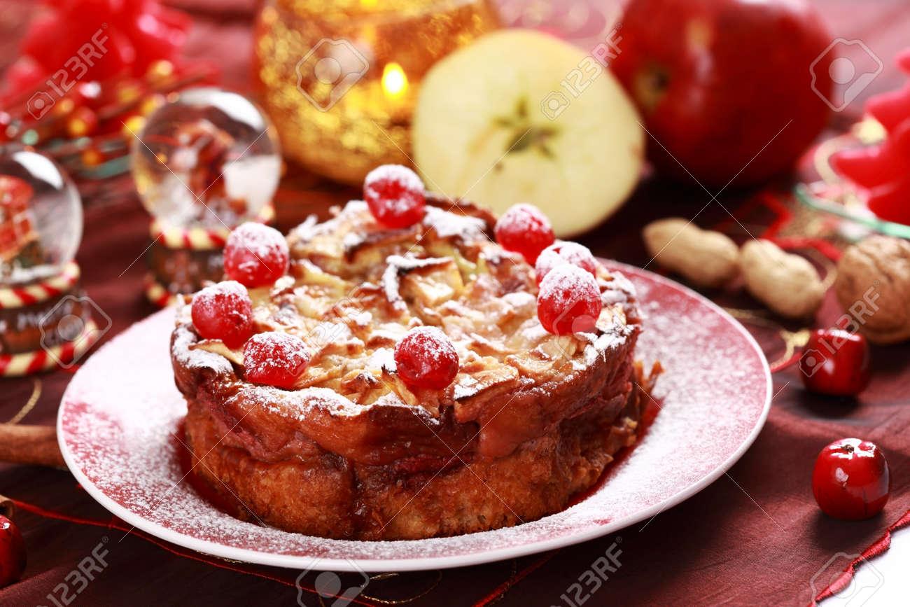 Charlotte Kuchen Für Weihnachten - Traditionelle Kuchen Mit Einer ...