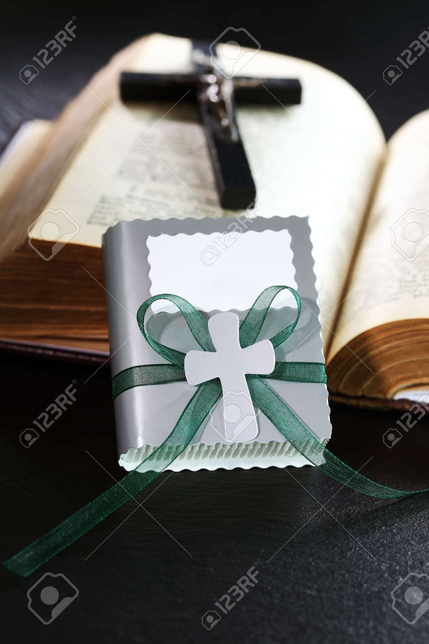 Small present for guests by first holy communion Stock Photo - 13831401