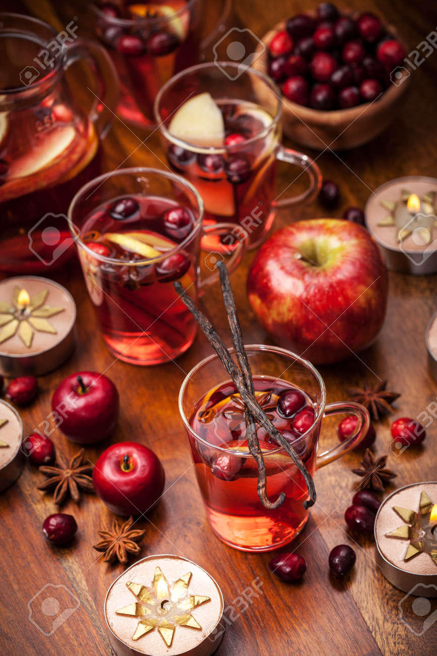 Delicious hot punch for winter and Christmas with fruits and wine Stock Photo - 16436012