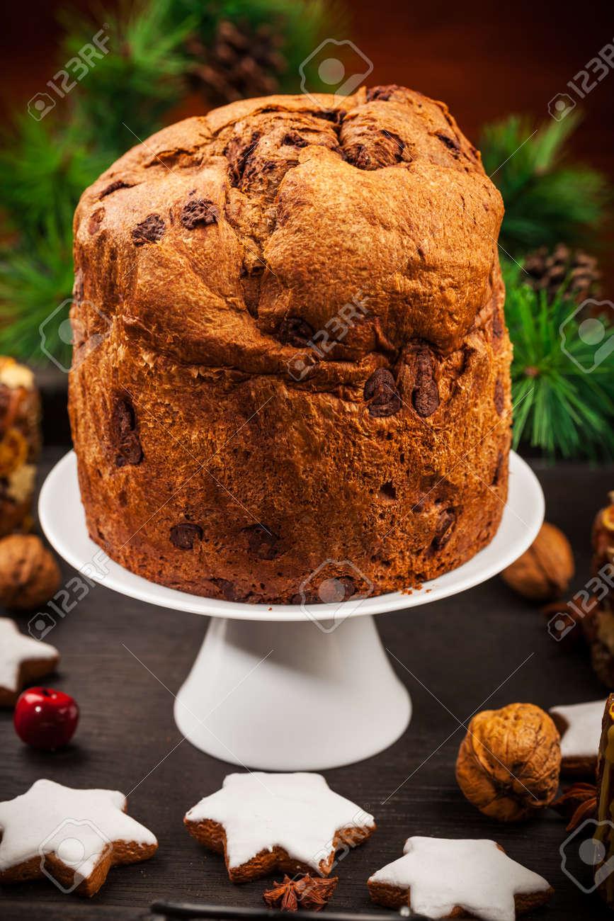 Schokolade Panettone Kuchen Fur Weihnachten Traditionelle